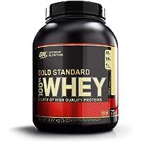 Optimum Nutrition Gold Standard Whey Protein Pulver (mit Glutamin und Aminosäuren. Eiweisspulver von ON) French Vanilla Crème, 73 Portionen, 2,27kg