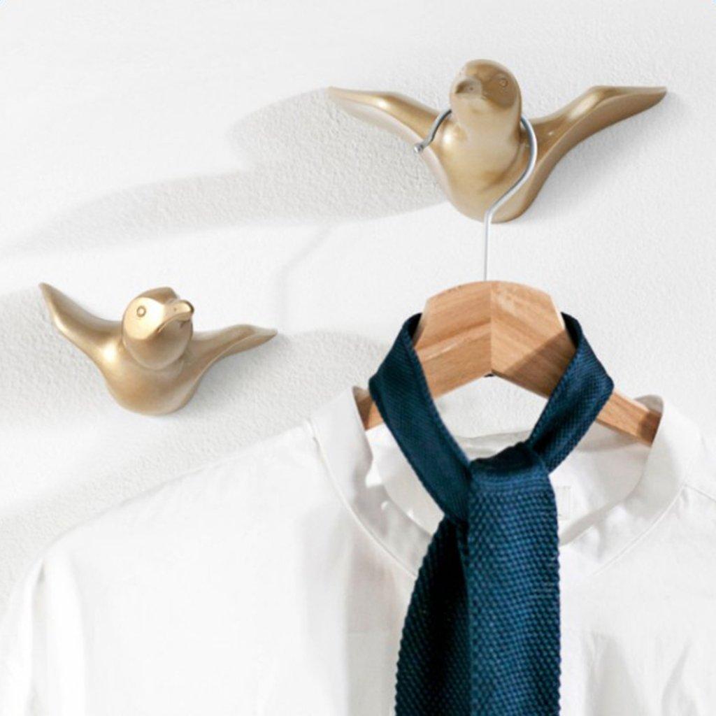 Gold Baoblaze Wandhaken M/öwe Form Kleiderhaken Zum Schrauben Handtuchhaken Bademantelhaken Mehrzweckhaken Haus Zimmer Dekoration S
