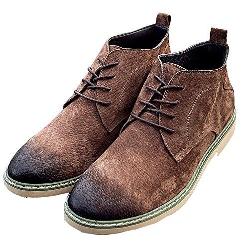Plaid & Uni Hommes En Daim Chukka Desert Bottines A-brown