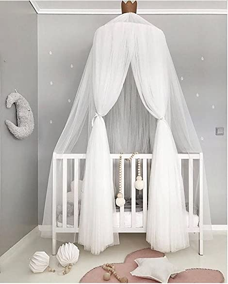 Hoomall Mosquito Net Bed Canopy Round Lace Dome Princess Play Tent Bedding for Baby Kids Childrenu0027s & Amazon.com: Hoomall Mosquito Net Bed Canopy Round Lace Dome ...