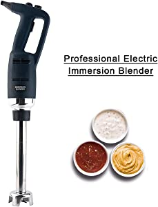 Li Bai Heavy Duty Commercial Immersion Blender For Restaurant 12'' stick blender Speed Adjustable Electric 500W motor Removable Shaft 2500rpm to 15000rpm