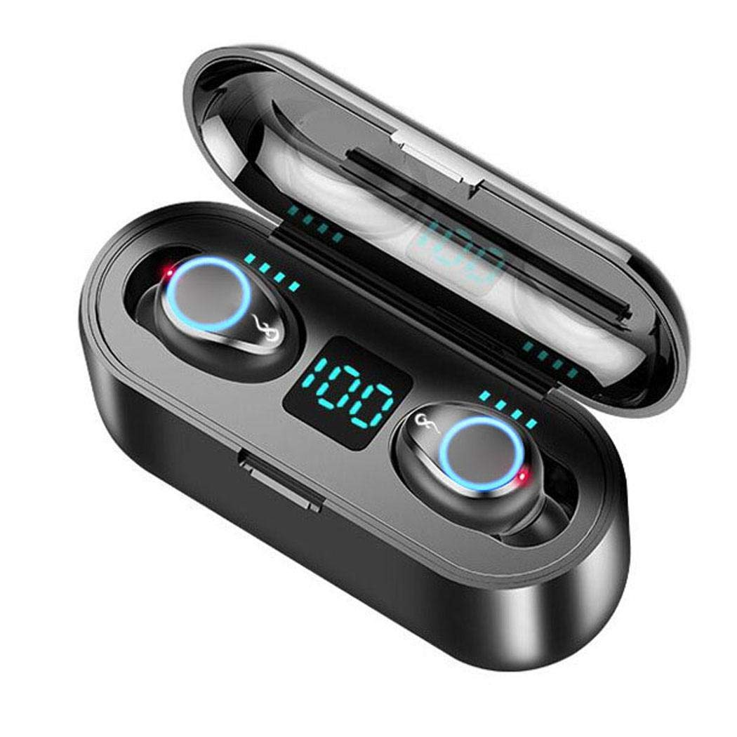 lernmeem Mini Wireless Bluetooth HiFi Headset Stereo in-Ear Earphone with Charging Box Headphones