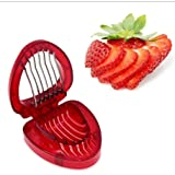 Iumer Simply Slice Strawberry Slicer Cutter with Stainless Steel Blades Hard Boiled Egg Slicer Cutter Multipurpose Strawberry Kitchen Gadgets