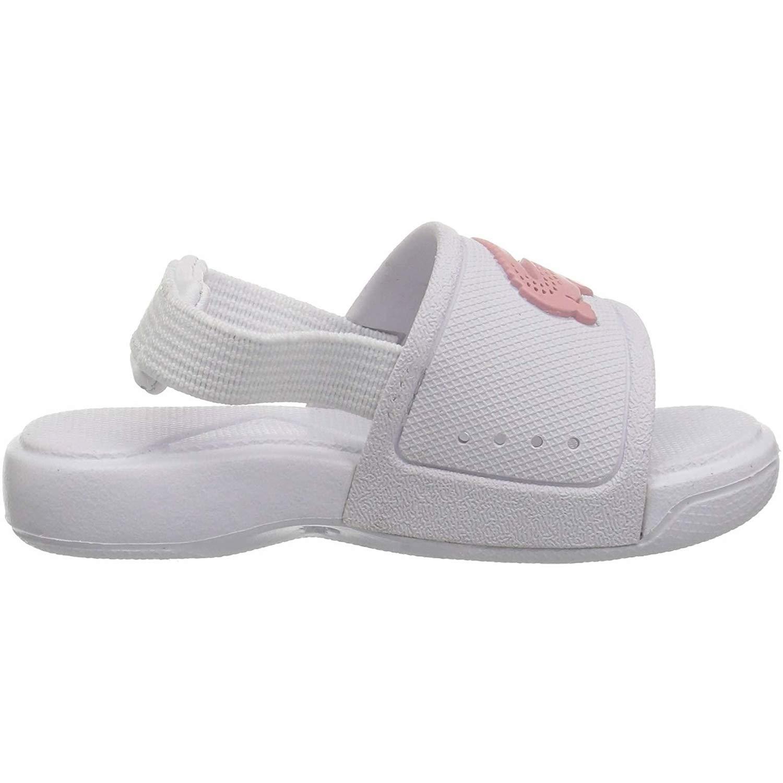 c3e03353e407 Lacoste L.30 Slide 119 2 White Light Pink Rubber Baby Slides Sandals   Amazon.co.uk  Shoes   Bags