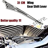 Motorcycle Black And Chrome Wing CNC Gear Shift Lever Shift Linkage 310mm Fit For Harley Road King