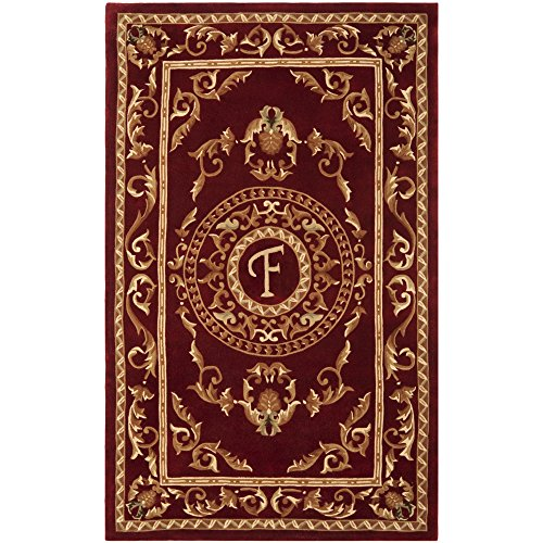 8' Naples Collection Rug (Safavieh Naples Collection NA519F Handmade Burgundy Wool Area Rug, 5 feet by 8 feet (5' x 8'))