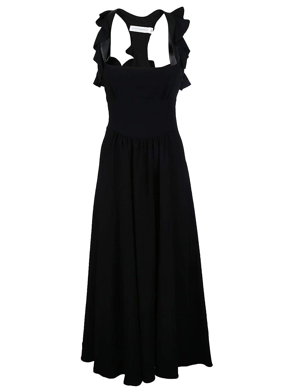 Victoria Beckham Women's DRLNG6308CBLACK Black Viscose Dress