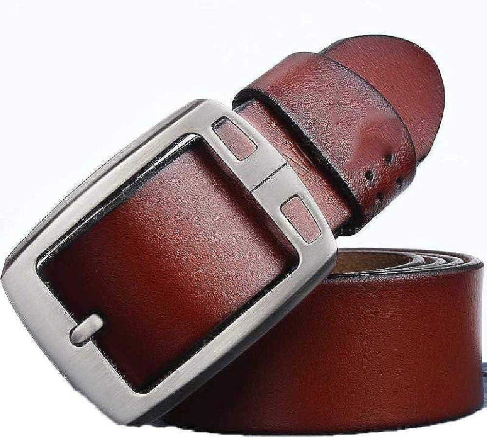 Elibone genuine cowhide leather belts for men brand Strap male pin buckle fancy vintage jeans cintos