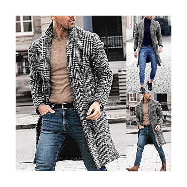 ITISME Homme Manteaux Coupe-Vent Veste Automne Hiver Chaud Longue Section Trench Long Outwear Button Manteaux…
