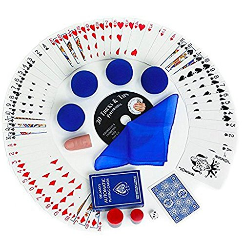 Magic Makers 100+ Magic Tricks Complete Kit: Everything Today's Magician Needs! (Royal Blue)