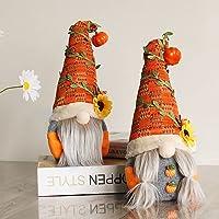 2 stuks herfst Thanksgiving kabouter pluche herfst handgemaakte Zweedse zonnebloem pop Thanksgiving dag geschenk tafel…
