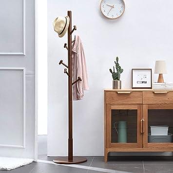 Percha de madera piso dormitorio percha simple solo polo ...