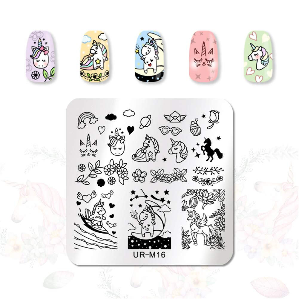 ur sugar 6pcs nail stamping plates set halloween dreamcatcher flower