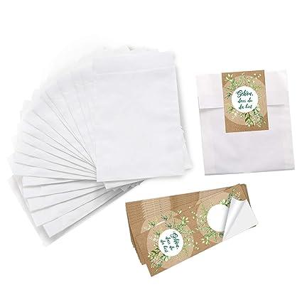 Logbuch-Verlag - Mini bolsas de papel blancas de 10,5 x 15 ...