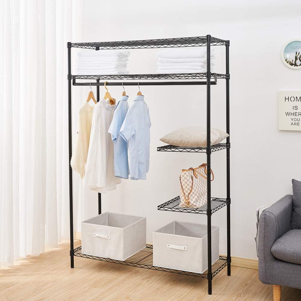 Daniel Heavy-Duty Wire Shelving Garment Rack