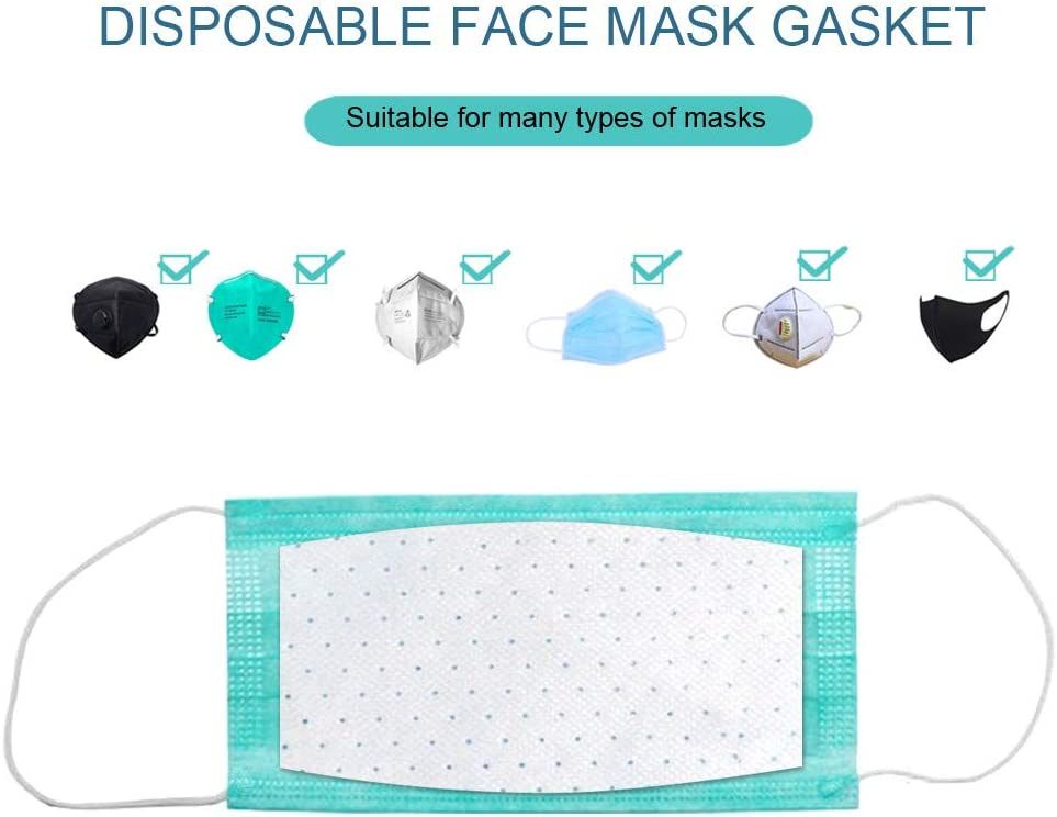 Whitegeese Mask Gasket Face Mask Filter Pad Activated Carbon Breathing Filters 10PC