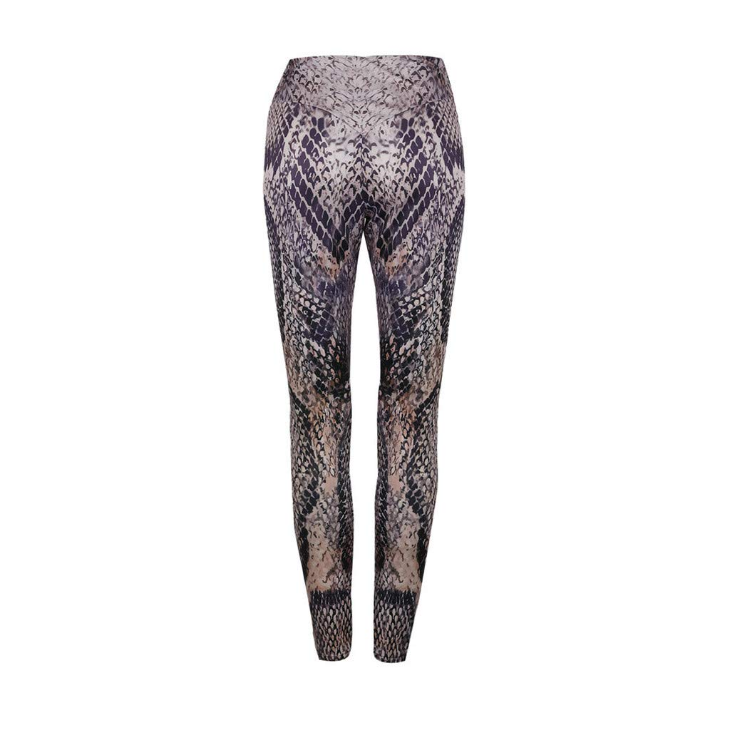 Amazon.com: Vovomay Women Pants-Women Python Print Yoga ...