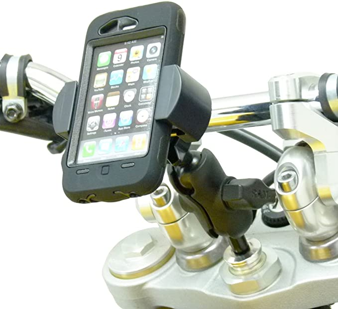 Buybits 17 5mm 20 5mm Motorrad Gabel Halterung Roadvise Smartphone Handy Halter Elektronik