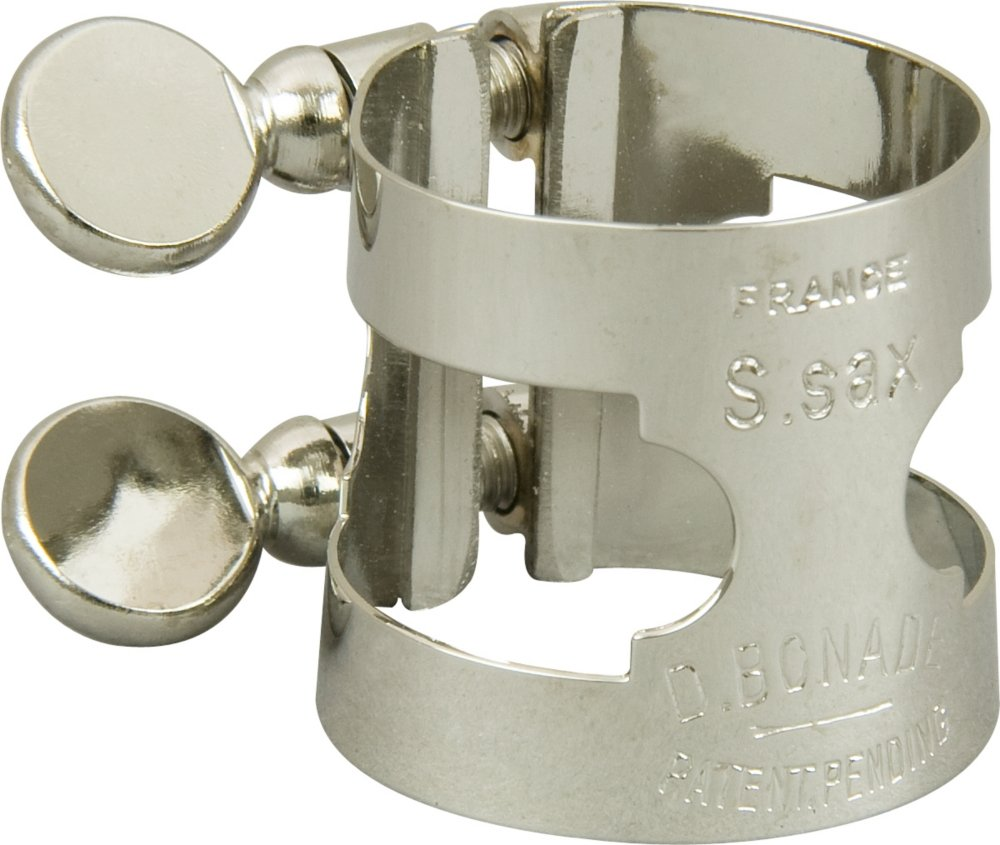 Bonade Soprano Saxophone Ligatures Nickel - Regular - Ligature Only 2257