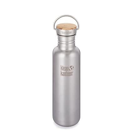 2b1bc8e3b3343 Klean Kanteen K18SSLRF-BS 18oz Reflect Stainless Steel Water Bottle with  Bamboo Cap