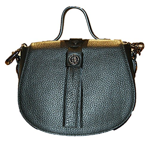 George Gina & Lucy Leather Nown Hippiho Sac fourre-tout noir