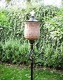 72 Inch (set of 6) Terracotta Mosaic Tulip Outdoor Garden Tiki Torches