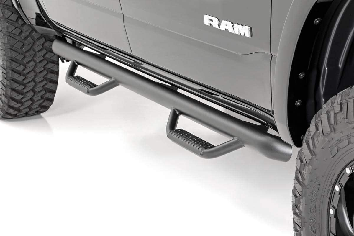 SDS020877 Truck Side Steps 2002-2008 Ram Truck 1500 Rough Country DS2 Drop Nerf Steps Quad Cab fits