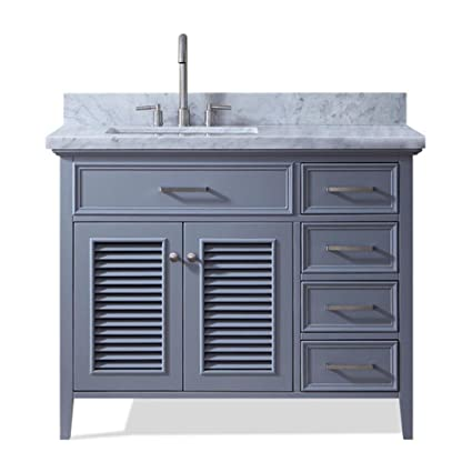 dkb 43 inch hartford series left offset single sink bathroom vanity rh amazon com 43 inch bathroom vanity lowes 43 inch bathroom vanity with sink