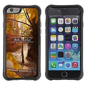 LASTONE PHONE CASE / Suave Silicona Caso Carcasa de Caucho Funda para Apple Iphone 6 PLUS 5.5 / Sign Leaves Fall Autumn Nature