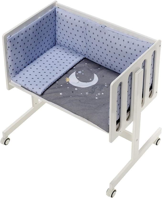 Minicuna Colecho con Textil Luna Universo Azul: Amazon.es: Bebé