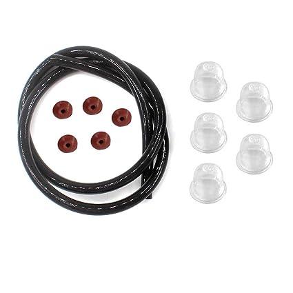 AISEN Fuel LINE Primer Bulb Check Valve for STIHL BR320 BR340 BR380 BR400  BR420 SR320 SR400 SR340 SR420 BR420C BR320L BR340L FH75 HT70 HT75 KM80 KM85