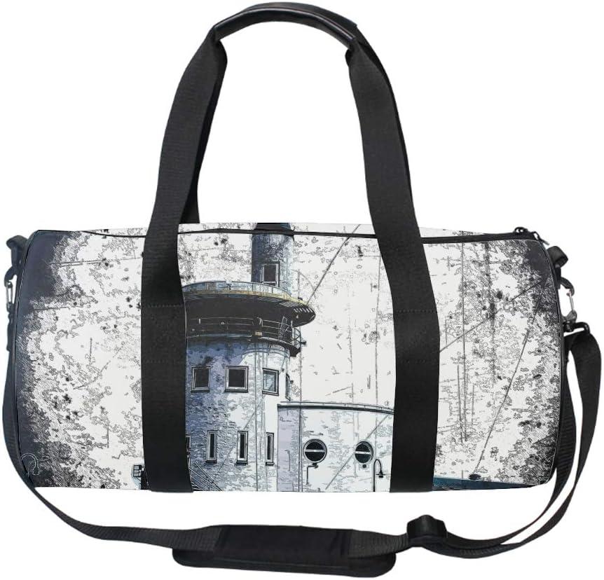 Round Cardinal Bird Gym Duffle Bag Drum tote Fitness Shoulder Handbag Messenger Bags