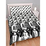 Star Wars Childrens/Boys Stormtrooper Awaken Reversible Duvet Cover Bedding Set (Single, Double) (Twin) (Black/White/Grey)