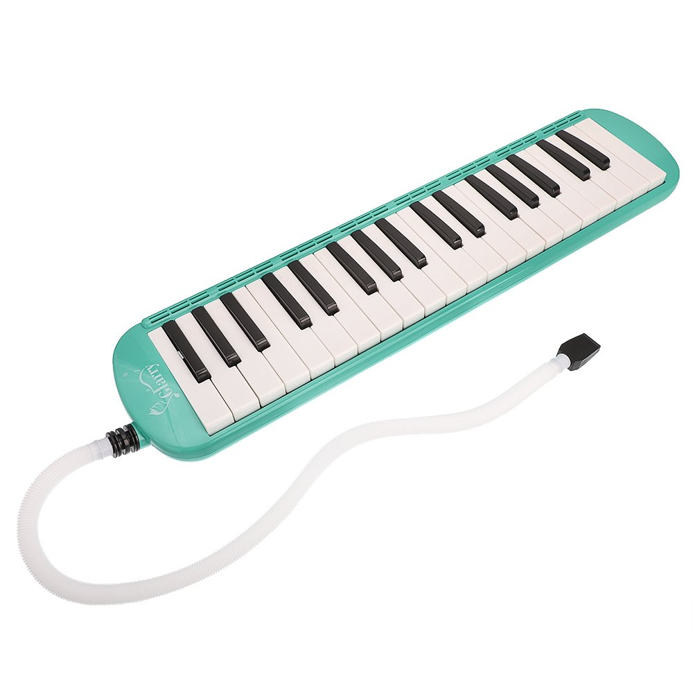 Cosway 37-Key Melodica with Mouthpiece & Hose & Bag Green