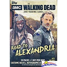 2018 Topps AMC The Walking Dead: Road to Alexandria EXCLUSIVE HUGE Factory Sealed Retail Box with Autograph, Relic,Patch or Sketch Card! Featuring Characters covering all seven seasons of the hit show