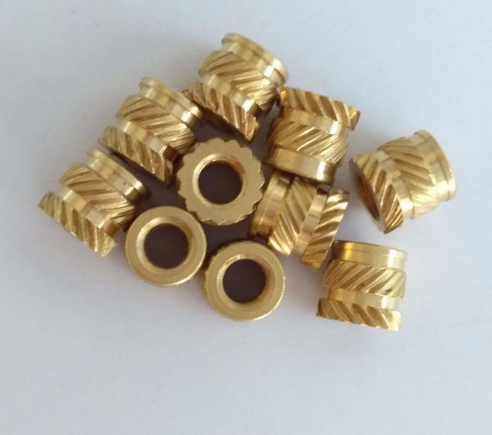 30pcs M2 brass knurled nuts sleeve twill embedded injection molding nut 3.5mm OD