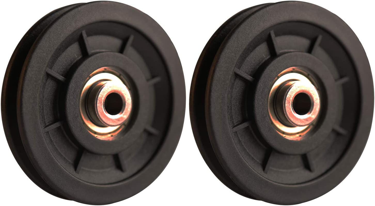 """LFJ 90mm/3.5"""" Nylon Bearing Pulley Wheel Replace for Gym Equipment Part Cable Merchine"""