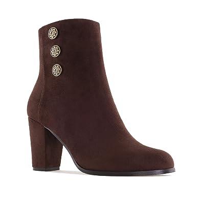 fbb99238102702 Bottines Suèdine Gris pour Femmes.Petites et Grandes Pointures 32/35-42/45.:  Amazon.fr: Chaussures et Sacs