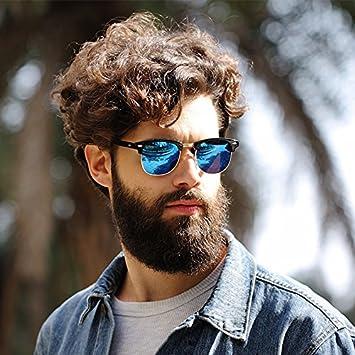 38b7f8f1636 Generic Black W Silver   High Quality Half Metal Sunglasses Men Women Brand  Designer Glasses Mirror