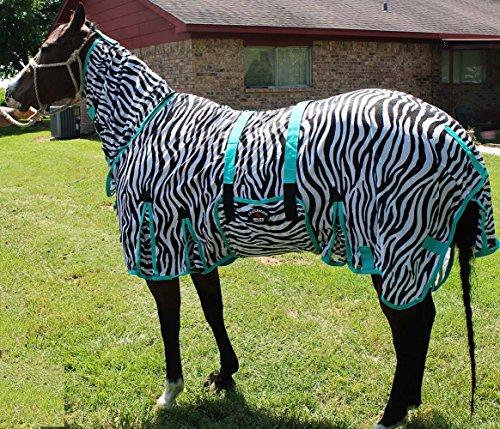 [해외]69 말 벌레 모기 플라이 시트 여름 봄 기류 메쉬 UV 얼룩말 목 73406/69  Horse Bug Mosquito Fly Sheet Summer Spring Airflow Mesh UV Zebra Neck 73406