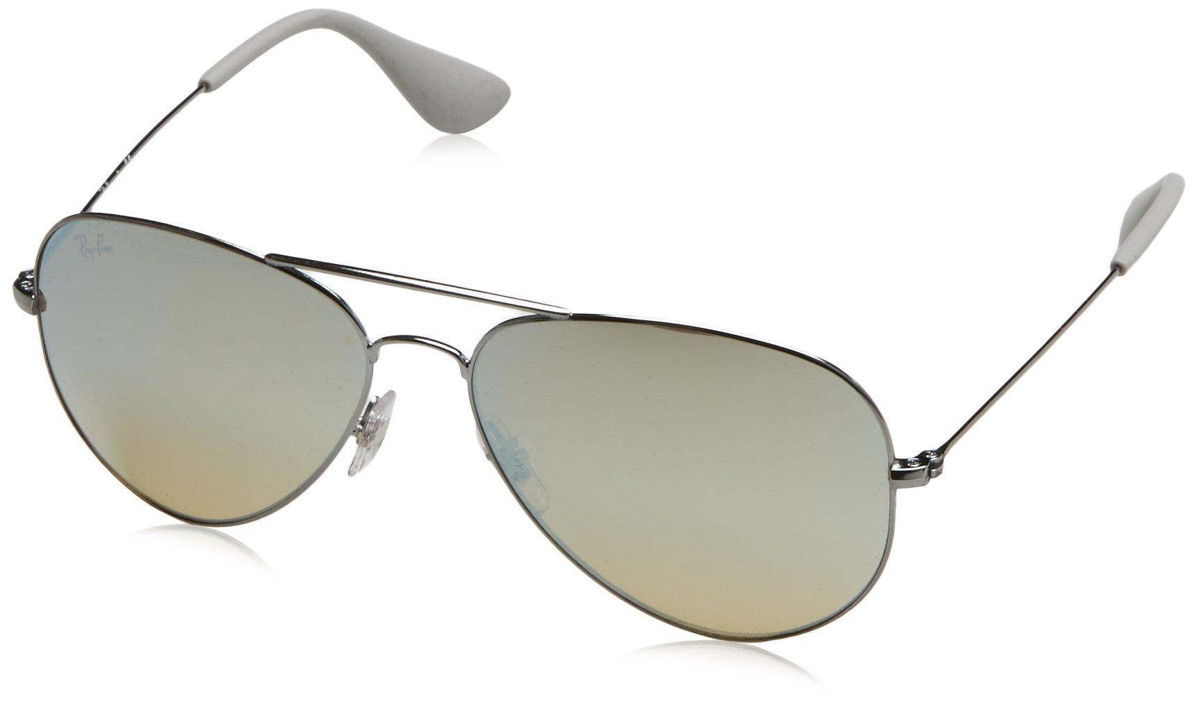 Ray-Ban Metal Unisex Aviator Sunglasses, Gunmetal, 58 mm