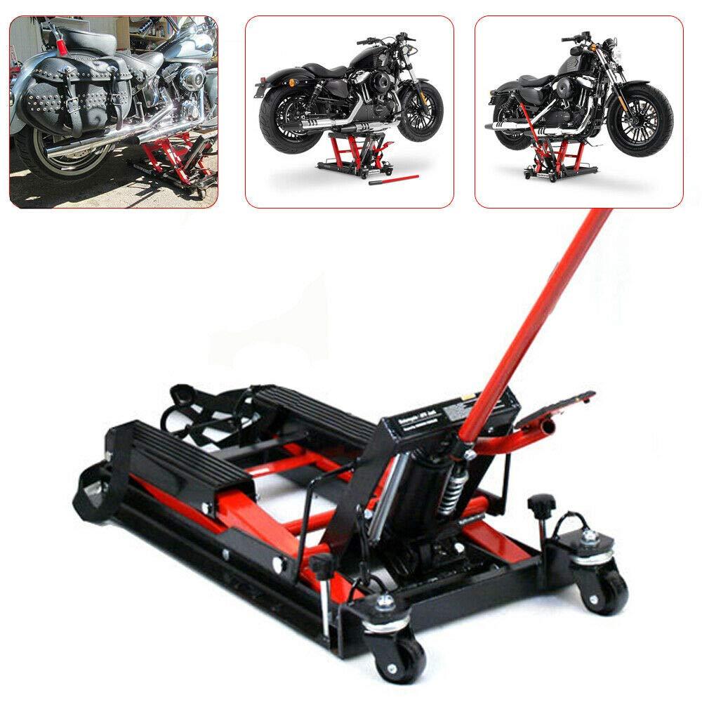YiWon Elevador de Tijera hidráulico de Motocicleta Elevador de Elevador de Motocicleta Gato hidráulico Soporte de Montaje Conector de Motocicleta máx. 680 kg