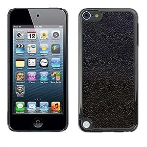 Stuss Case / Funda Carcasa protectora - Black Textured Leather Hide Grey - Apple iPod Touch 5