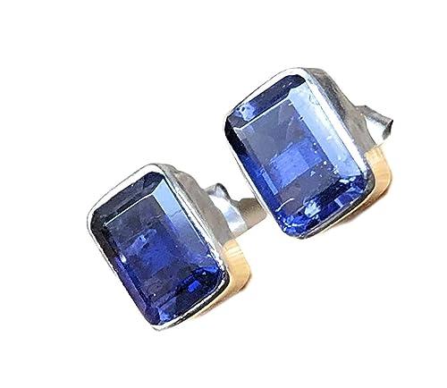 Cordierite Earrings Water Sapphire Earrings Iolite Jewelry Viking Stone Earrings Viking Earrings Iolite Earrings