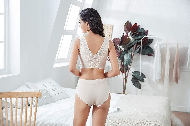 Yiutti Womens Sleep Bra Wirefree Comfort Bralette Low-Impact Leisure Daily Bras