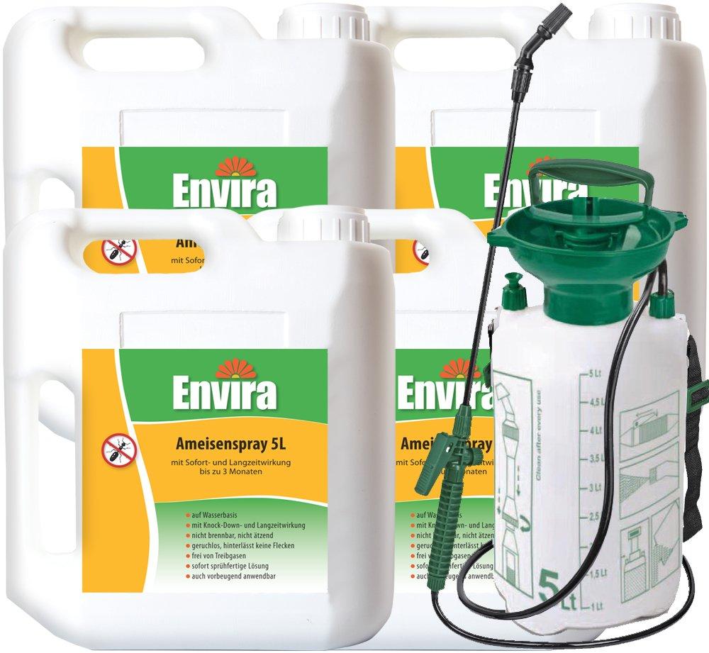 ENVIRA Ameisen Schutz 4x5Ltr + 5Ltr Drucksprüher