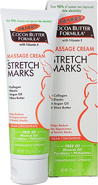 Amazon Com Palmer S Cocoa Butter Formula Massage Cream For Stretch Marks Pregnancy Skin Care 4 4 Ounces Pack Of 2 Maternity Skin Care Products Beauty