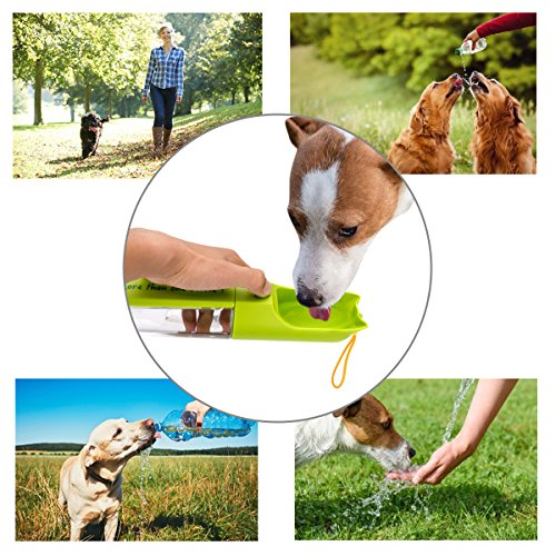 XUANRUS Dog Travel Water Bottle, Portable Pet Water Dispenser Drink Bottle for Daily Walks, Hiking, Camping, Beach, BPA Free Plastic with Pet Food Box by XUANRUS (Image #4)