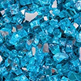 Alpine Flame 1/4-inch Caribbean Blue Reflective Fire Glass - 30 Pounds