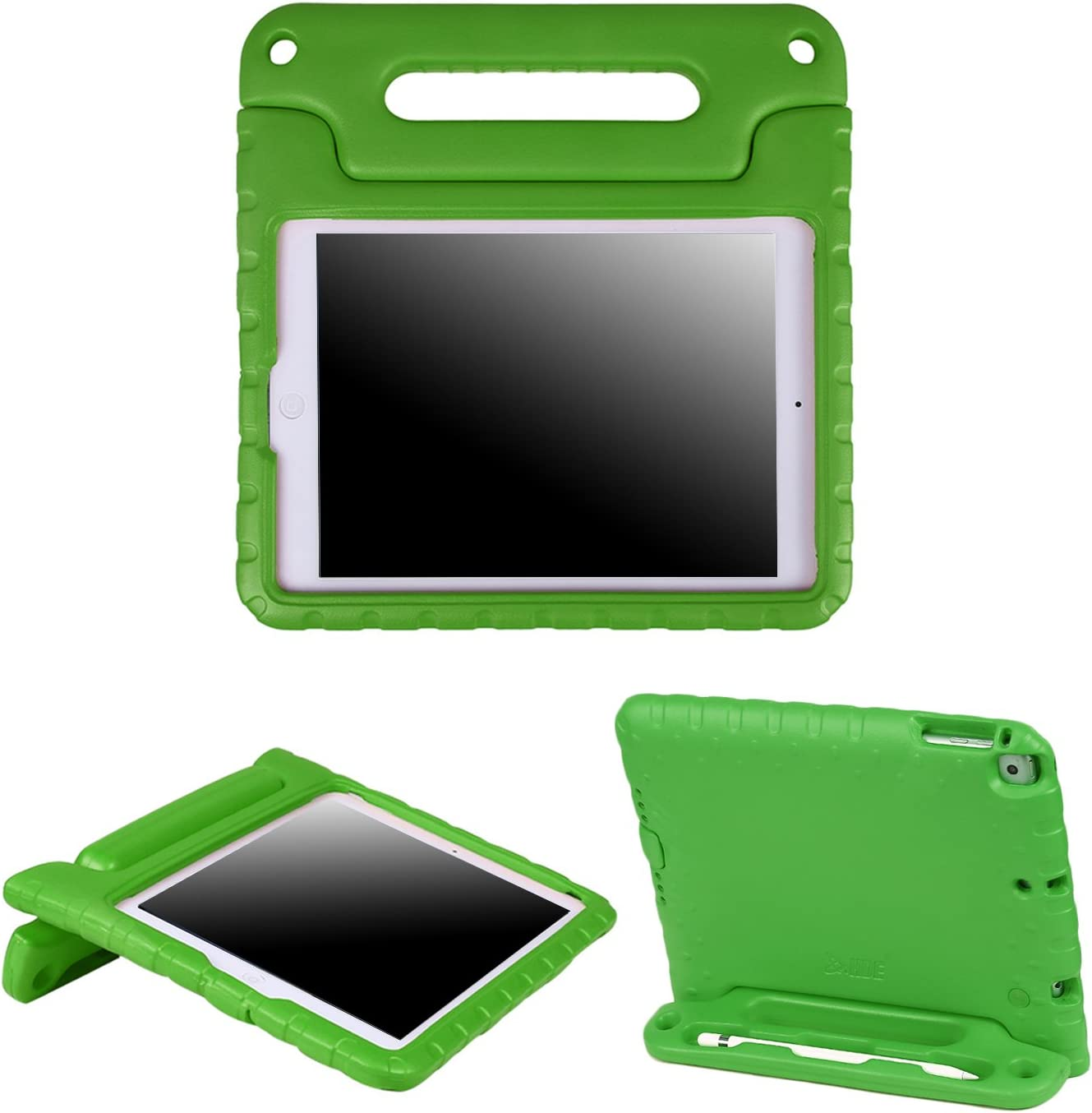 HDE iPad 6th Generation Case for Kids – iPad 9.7 inch 5th and 6th Generation Cases for Kids Shock Proof Protective Light Weight Cover with Handle Stand for Apple iPad 9.7 with Pencil Holder - Green